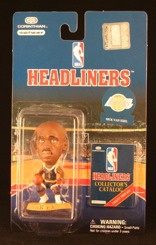 NICK VAN EXEL / LOS ANGELES LAKERS * 3 INCH * 1997 NBA Headliners Basketball Collector Figure - 1