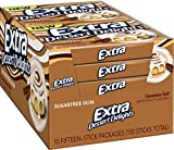 Extra Sugar Free Gum, Dessert Delights Cinnamon Roll, 15 Stick Slim Pack (Pack of 10)