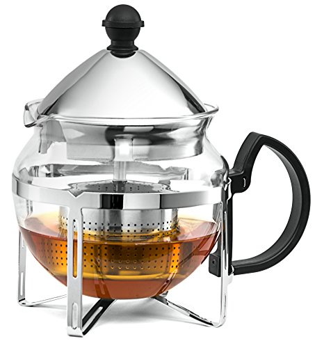 Chef's Star Functional Infuser Tea Maker - Premium Stainless Steel Tea Infuser - Heat Resistant Glass (Perfect Tea Maker Glass compare prices)
