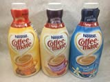 Coffee Mate Liquid Concentrate 1.5 Liter Pump Bottle - Variety 3 Pack