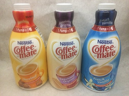 Coffee Mate Liquid Concentrate 1.5 Liter Pump Bottle - Variety 3 Pack (Pecan Pie In A Jar compare prices)