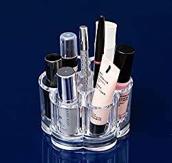BlushBees Flower Design Acrylic Cosmetic Makeup Organizer, 1 Piece, Transparent