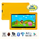Contixo 9 Inch Quad Core Android 4.4 Kids Tablet, HD Display 1024x600, 1GB RAM, 8GB Storage, Dual Cameras, Wi-Fi, Bluetooth 4.0, Kids Place App & Google Play Store Pre-installed, 2015 May Edition, Kid-Proof Case (Yellow)