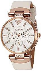 Aspen Power Bold Analog White Dial Womens Watch - AP1522