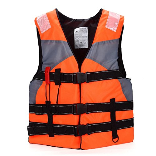 Life Jackets,Multi-Sport Adult Floating Swimming Buoyancy Aid Vest For Fishing Outdoor Sports With Whistle--Orange (Life Preserver Type 1 compare prices)