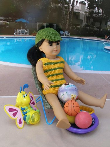 Poolside Games Crocheting Pattern for 18 inch dolls