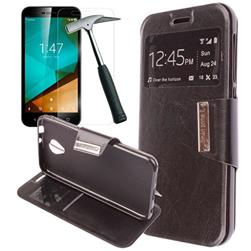 oviphone-funda-con-tapa-libro-soporte-para-vodafone-smart-prime-7-cristal-templado-color-negro
