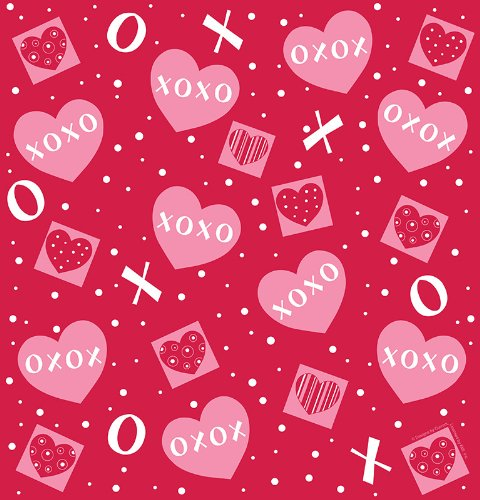 Creative Converting Valentine'S Day Plastic Banquet Table Cover With Crafty Hearts Design