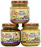 Earth's Best Organic Fruit & Whole Grain Combo, Variety Pack, 4-Ounce Jars (Pack of 12)