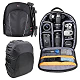 Black Water-Resistant Backpack with Customizable Interior & Raincover for WolVol Pretend & Play Doctor Set for Kids with Electric Stethoscope Toy and Medical Doctor's Equipment - by DURAGADGET