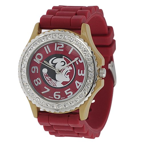 Florida State Seminoles Women&#8217;s Rhinestone Jelly Watch