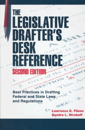 Legislative Drafter's Desk Reference, 2nd Ed