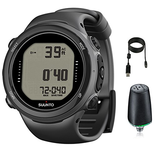 Suunto d4i novo watch dive computer with transmitter usb black sporting goods water sports - Suunto dive watch ...