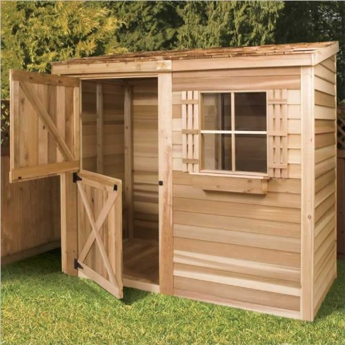 Marvelous If You Interest Small Wooden Garden Sheds And Cedar Shed 8 X 4 Ft. Bayside Wood  Storage Shed Is Your Choice,you Can See Features For Cedar Shed 8 X 4 Ft.