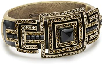 Judith Leiber Jewelry Gold-Tone, Enamel, Crystal, and Semi-Precious Cuff Bracelet