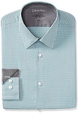 Calvin Klein Men's Xtreme Slim Fit Grid Check Shirt