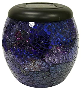Solaris - Solar Powered LED Mosaic Glass Lantern Light (Assorted Colors)