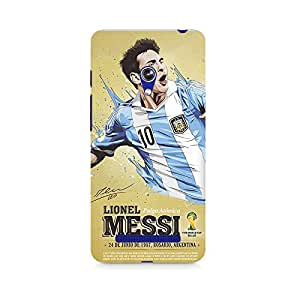 Motivatebox- Lional Messi Love Premium Printed Case For Asus Zenfone Go -Matte Polycarbonate 3D Hard case Mobile Cell Phone Protective BACK CASE COVER. Hard Shockproof Scratch-