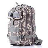 Team Pistol Tactical Military Backpack Camping Hiking Trekking Bag Molle Rucksacks Waterproof Assault Pack (ACU Camouflage)