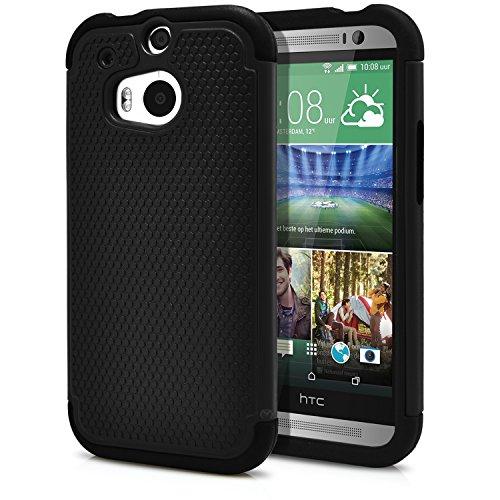 MagicMobile HTC ONE M8 Armor Hybrid Case w/ Stand Black