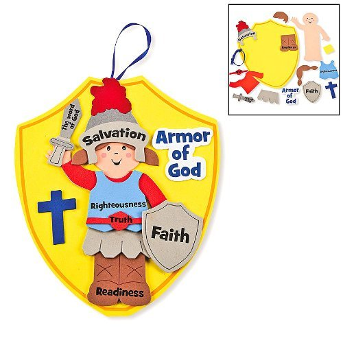 Fun Express Armor of God Kids Craft Kit (1 Dozen) (Christian Crafts For Kids compare prices)