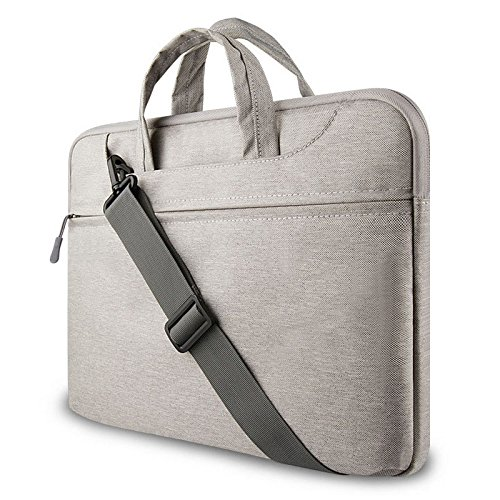 "GADIEMENSS Water-resistant Laptop Shoulder Briefcase Bag Portable Computer case handbag For Apple Macbook 12"" Air 11.6"" Gray"