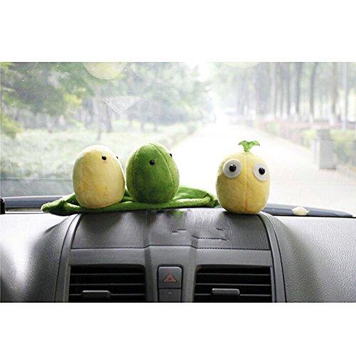 PLEXXA(TM) Car Use Eliminate Smell Cartoon Lucky Beans Bamboo Charcoal Bag Cutely Air Purification Doll Activated Air Freshener Odor Deodorant Toy Lessen Radiation Indoor Car Decoration