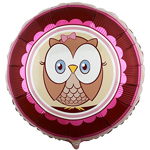 "Owl Party Look Whoo's 1 Pink 18"" Foil Balloon"