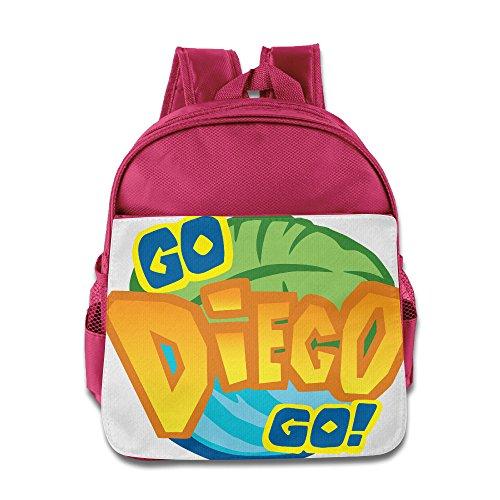 [Go Diego Go Logo Kids School Bag Pink] (Dora Diego And Boots)