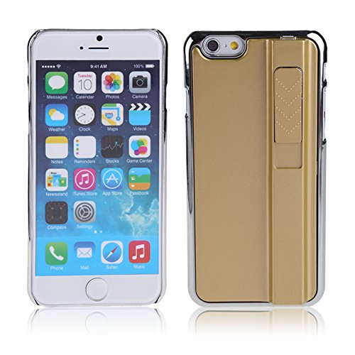 "Vakind® Creative Electronic Rechargeable Cigarette Lighter Case Cover For Iphone 6 4.7"" (Gold)"