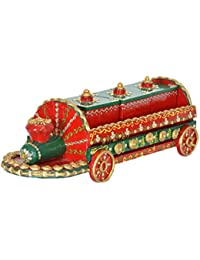 THE ART OF INDIA Wooden Decorative Box (41.15 Cm X 12.7 Cm X 13.97 Cm)