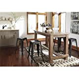 Signature Design by Ashley D542-13 Pinnadel Collection Counter Height Dining Room Table, Light Brown
