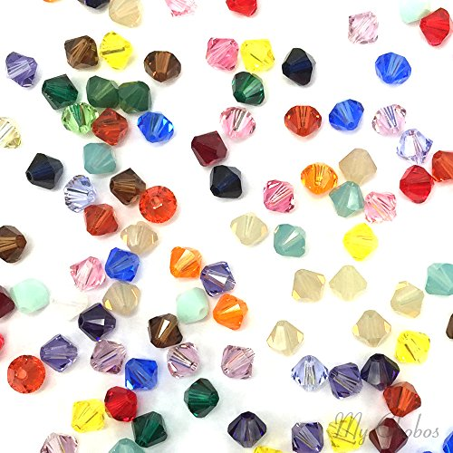 50 pcs Swarovski 5328 / 5301 6mm Crystal Xilion Bicone Beads MIX Colors **FREE Shipping from Mychobos (Crystal-Wholesale)** (Swarovski Bead Mix compare prices)