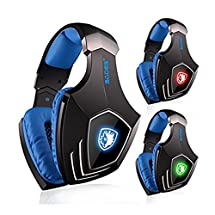 Sades A60 7.1 Sound Gaming Headphone with Mic Three Color Lights