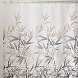 InterDesign Anzu Shower Curtain, Black and Tan, 72-Inch by 72-Inch