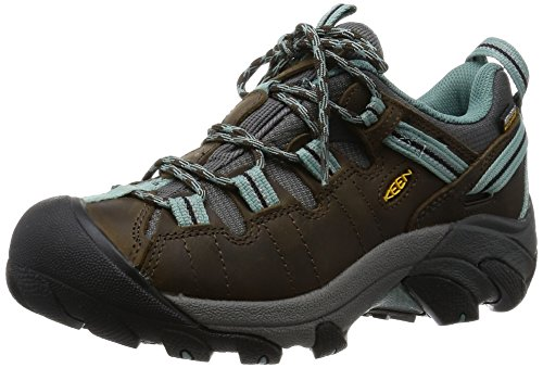 KEEN Women's Targhee II Outdoor Shoe, Black Olive/Mineral Blue, 9 M US