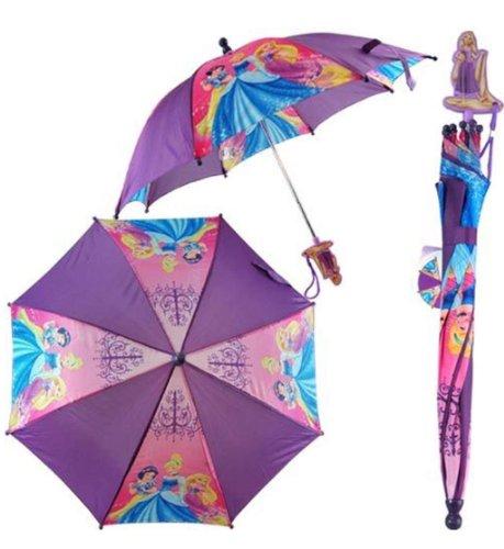 Disney Girls Princess Umbrella w/ 3D Handle (Purple)