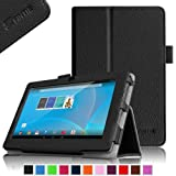 """Fintie Chromo 7"""" Tablet Folio Case Cover - Premium Leather With Stylus Holder for Chromo Inc 7 Inch Android Tablet (Front Camera Version Only) - Black"""