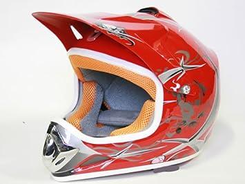 XTreme sport cross pour enfant rouge taille s casque de motocross offroad quad bike neuf