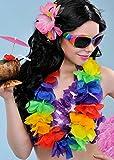 Collares de flores XL guirnalda arco iris Lei