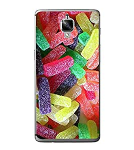 Colourful Candies 2D Hard Polycarbonate Designer Back Case Cover for OnePlus 3 :: OnePlus Three