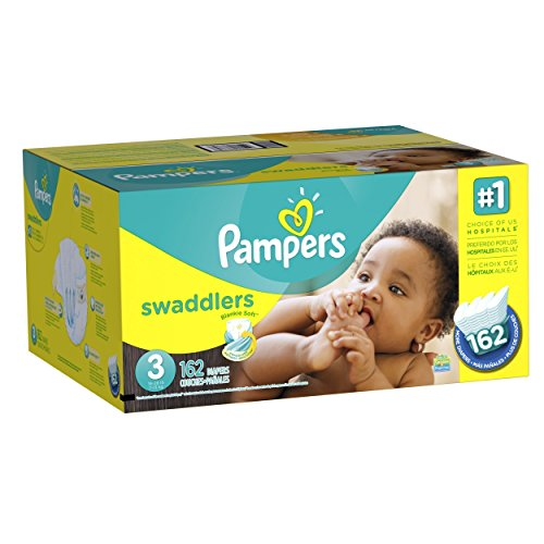 Pampers Swaddlers Diapers Size-3 Economy Pack Plus, 162-Count- Packaging May Vary