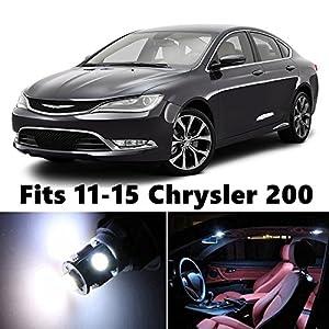 8 X Premium Xenon White Led Lights Interior Package Kit For 2011 2015 Chrysler 200