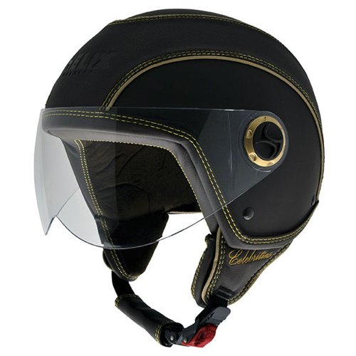 NZI-150213G093-Celebrities-Matt-Black-Casco-de-Moto-Color-Goma-Negro