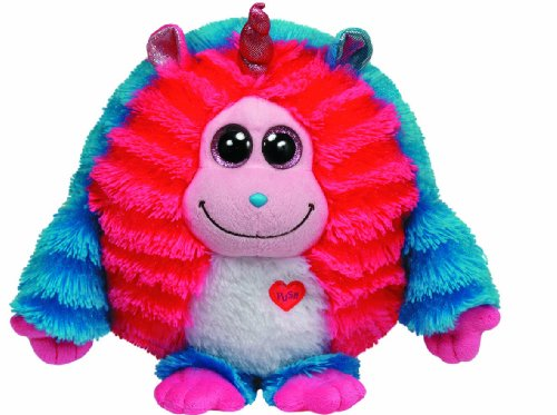 "TY INC Monstaz DELILAH Blue & Pink Monster 12"" Large 37913"