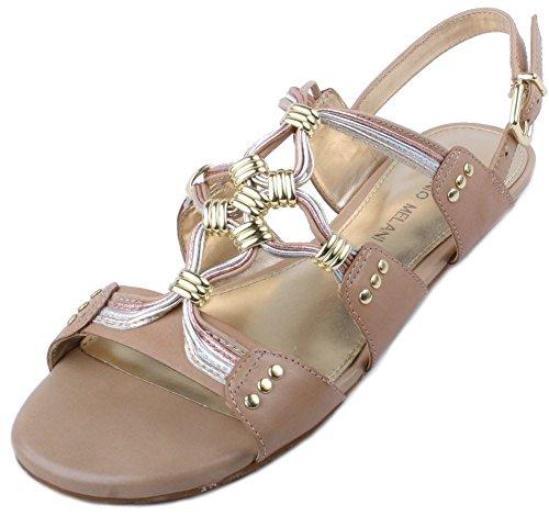ca5a1868f7c Antonio Melani Millie Womens Gold Tan Leather Fashion Sandals