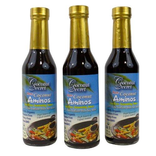 Coconut secret coconut aminos three 8oz bottles for Red boat fish sauce trader joe s
