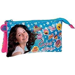 Disney Yo Soy Luna 4714351 Astuccio a Triplo Scompartimento, 1.32 litri, Poliestere, Blu