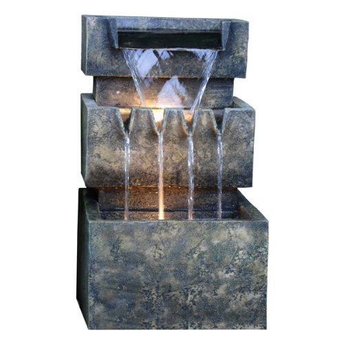 Three Level Falls Lit Garden Water Feature 50.5cm / 19.9