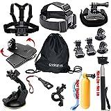Greleaves Outdoor Sports Accessories Bundles Kit for SJ4000 SJ5000 SJ6000 Camera Accessory Kit for Gopro Hero Session,Gopro Hero 4 Black,Gopro Hero 4 Silver, Gopro Hero 1/2/3/3+ Camera